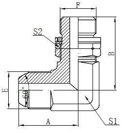 BSP O-ring Ayarlanabilir Saplama Çizim