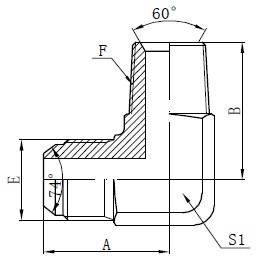 BSPT Erkek Adaptör Konnektörleri Çizim