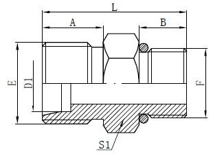 SAE O-ring Hortum Konnektörleri Çizim